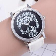 Damen Uhren 2020 Mode Retro Schädel Uhren Frauen Uhren Leder Band Quarz Uhren Frauen dames horloges horloges women