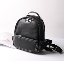 Роскошные дизайнерские женские Малый Sacs à DOS реального Cuir véritable женские рюкзак Топ Слои коровьей девушки школьная сумка Mochila