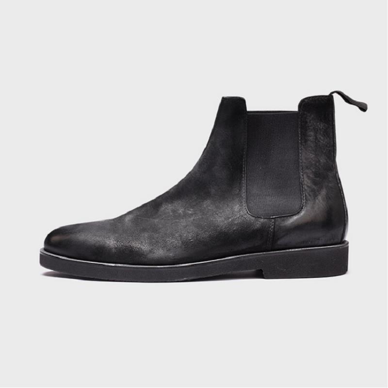 Da Qualidade Dos Luxo Couro Estilo Ankle Genuíno Botte Northmarch Sapatos Conforto Alta Marca Inverno Inglaterra De Homens Outono Boots Botas Preto xwfaFYSq