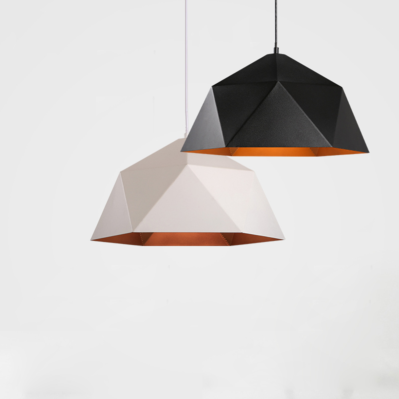 Nordic Modern Polygon Iron art Pendant Lights for Kitchen Living Room Suspension Luminaire E27 Led Home