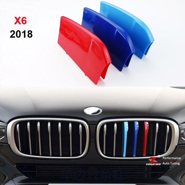 For 2018 Year Bmw X6 F16 3d Color M Styling Front Grille Trim Strip