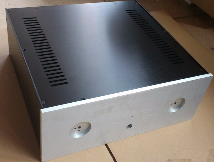QUEENWAY Pre-amplifier Incorporated Aluminum Chassis Case 430mm*165mm*410mm  430*165*410mm (Aluminum Enclosure) 4316 3206 amplifier aluminum rounded chassis preamplifier dac amp case decoder tube amp enclosure box 320 76 250mm