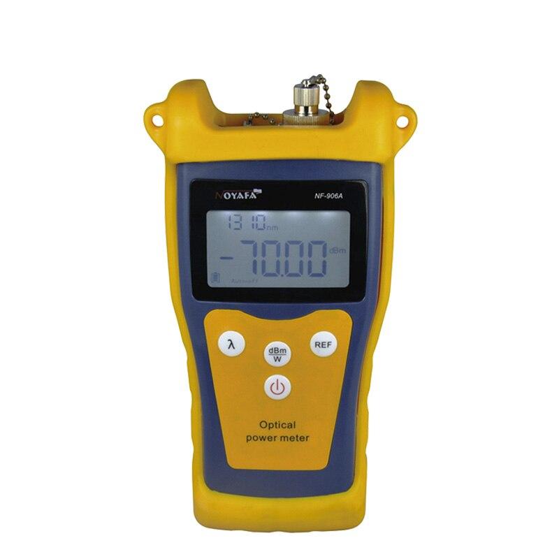 NF-906A Handheld Fiber Optical Power Meter Tester -70 ~ + 10dBm цена 2017