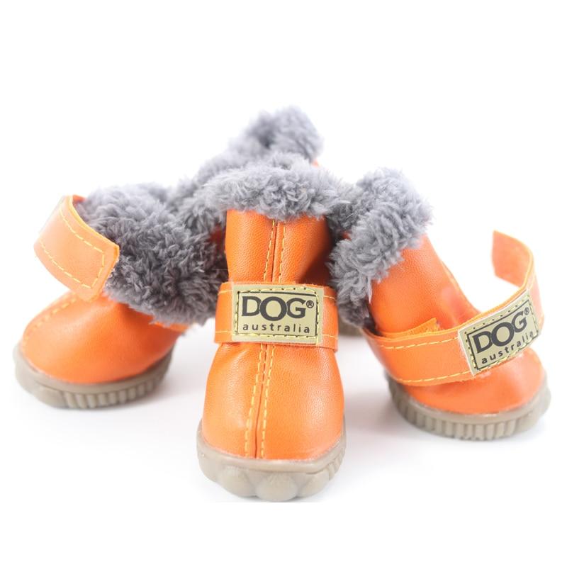 Sepatu Anjing peliharaan Musim Dingin Super Hangat 4 pcs / set Sepatu - Produk hewan peliharaan - Foto 5