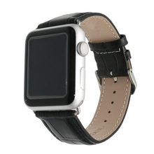 New Pink Black Red White Brown Men Women Real Calf Genuine Leather Wrist Watch Band Belt Strap For Apple Watch Iwatch 38mm 42mm  все цены