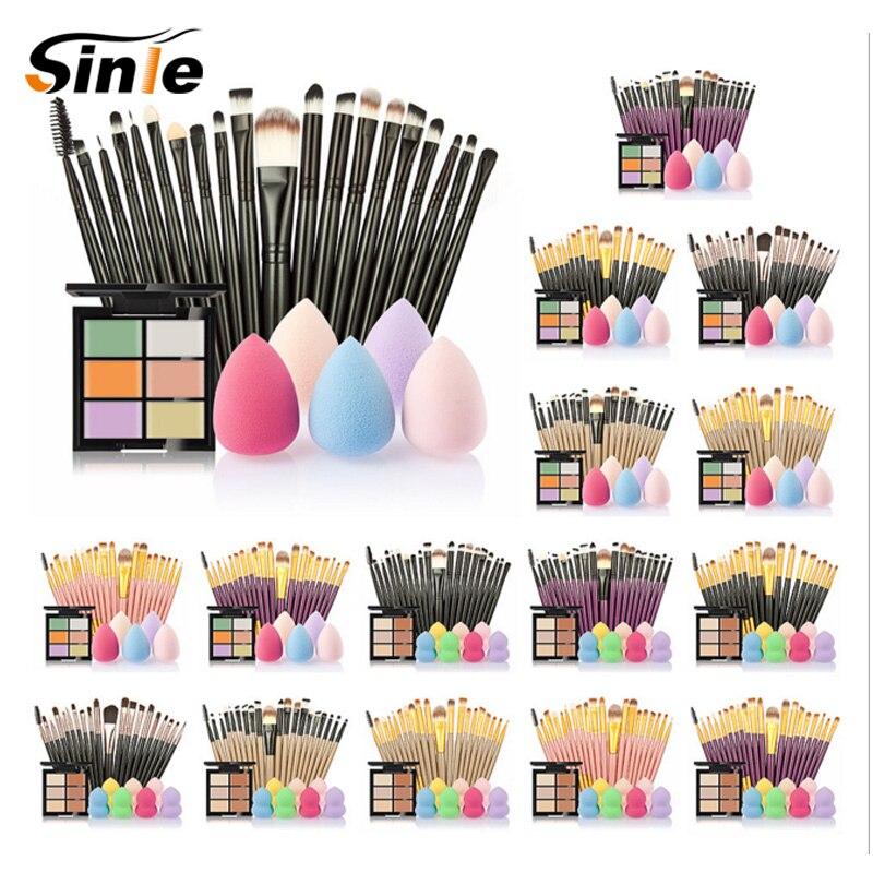 все цены на Sinle 20Pcs/set Makeup brushes,Pro Eyebrow Foundation Powder Eyeshadow Eyeliner Lip Concealer Eyelash Blending Brush Set Kit онлайн