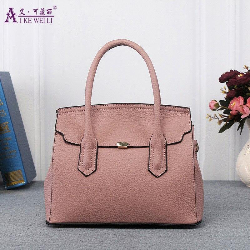 ФОТО AIKEWEILI 2017 Women Shoulder Bags Tote High Quality Women Handbag Genuine leather Large Capacity Women Bag