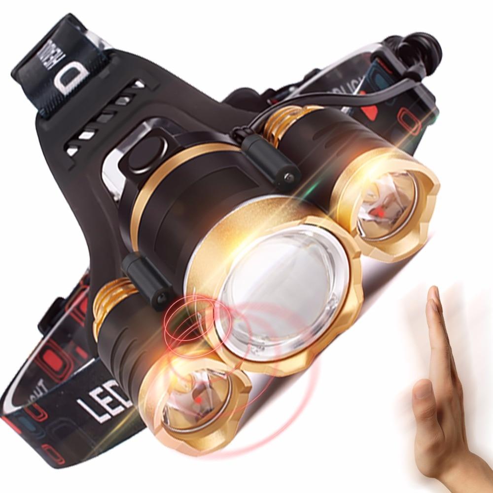 SKYFIRE infrapuna liikumisandur Heledam LED esilatern veekindel esilaterna tugi USB laadimine suumitav 2 x 18650 akuga