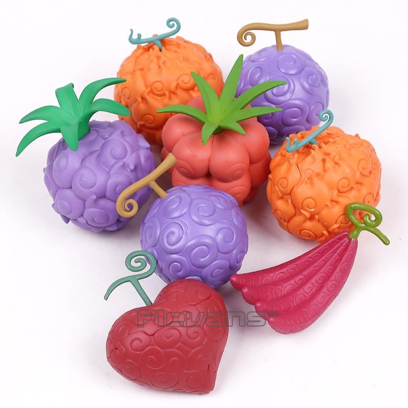 Anime One Piece Devil Fruit Gum Gum / Flame Flame / Ope Ope / Chop Chop Fruit PVC Figure Collectible Toy with Gift Box 4pcs/set anime one piece devil fruit fruit line
