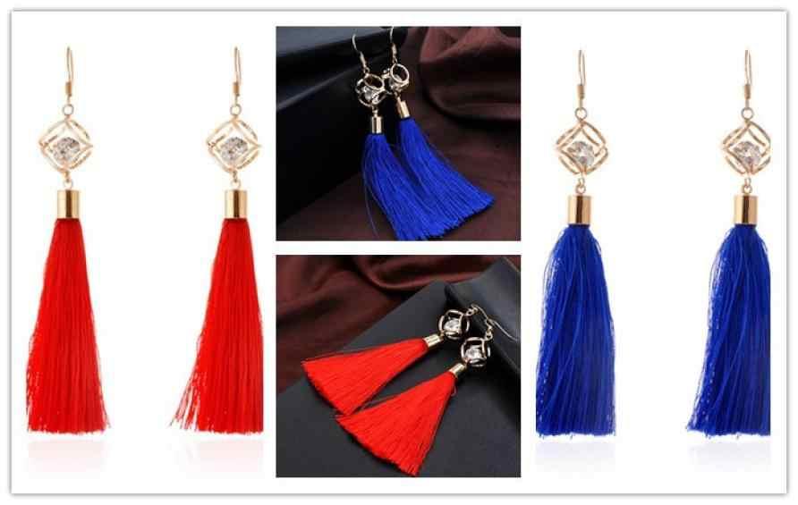 Hermosos pendientes bohemios para mujer, pendientes de borlas de lana, hermosos pendientes de aro, joyería, fantásticos adornos de joyas anesis