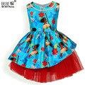2017 Next Summer Kids Toddler Girls Princess Moana Dress Print Trolls Winter costume 10 12 14 Years Disfraz Robe Deguisement