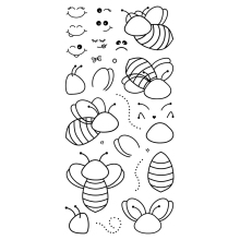 Assembling bees Transparent Clear Silicone Stamp/Seal for DIY scrapbooking/photo album Decorative clear stamp