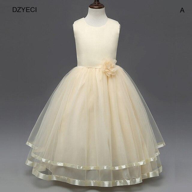 20123561709 2018 Maxi robes pour fille Floral carnaval Costume adolescent enfants  Deguisement Elza enfant mariage ceinture arc