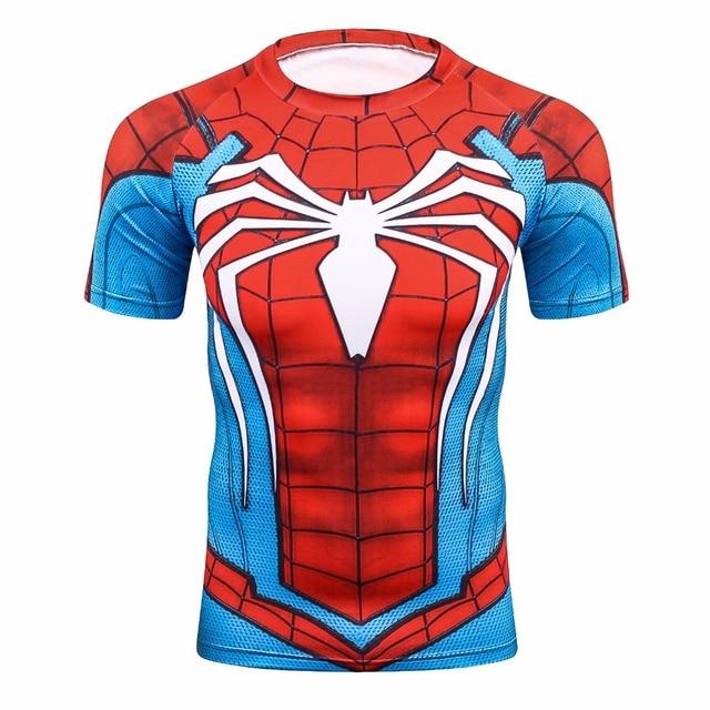 f2104efb51 Manga Raglan Camisas De Compressão Spiderman 3D Impresso camisas de T Dos  Homens 2017 NOVO Crossfit