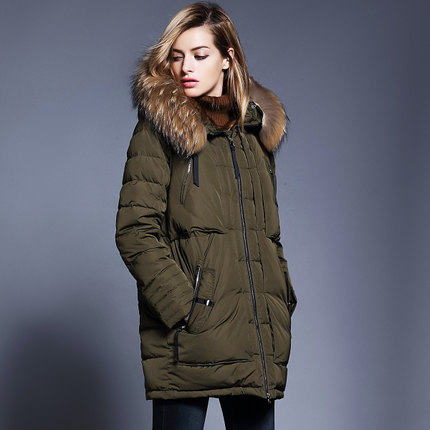 2016 new hot winter Thicken Warm woman Down jacket Coat Parkas Outerwear Hooded Raccoon Fur collar long plus size 2XXL Slim wholesale archery equipment hunting carbon arrow 31 400 spine for takedown bow targeting 50pcs