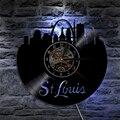 St.Louis City LED виниловая запись настенное освещение часов изменение цвета настенный светильник современная подсветка для гостиной интерьер ук...