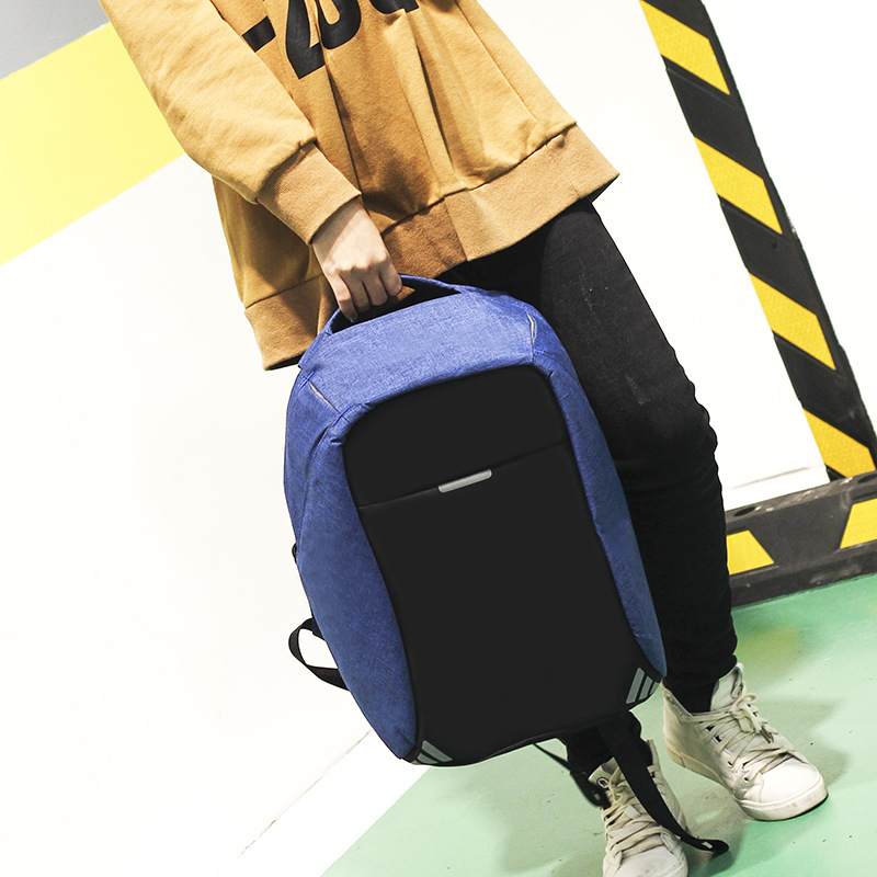 Anti-voleur USB sac à dos sac à dos pour ordinateur portable pour femmes hommes école sac à dos sac pour garçon filles mâle voyage Mochila Oxford Notebook - 5