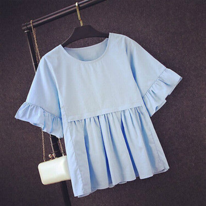 Basic Shirt Women Short Sleeve Womens Tops 2016 Summer Tee Shirts Korean Style Blouse Cotton New Plus Size Blause