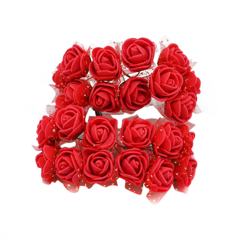 72 шт. ручной работы миниатюрная роза из пеноматериала цветы многоцелевой цветы ветка Свадебная вечеринка Декор DIY ВЕНОК аксессуары домашний Декор Цветы 8