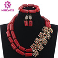 Fashionable Real Red Coral African Beads Jewelry Sets Brides Wine Red Coral Costume Jewellery Set for Women Hot CNR730