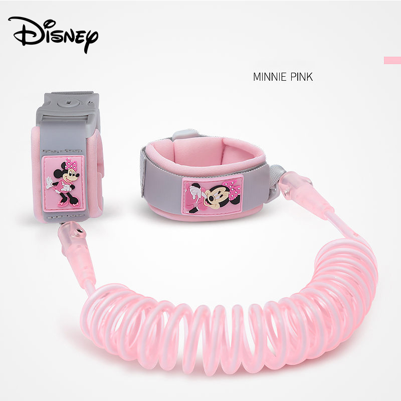 Disney Safety Lock Anti Lost Wrist Link Toddler Leash Harness Outdoor Walking Hand Belt Wristband Baby Strap Rope