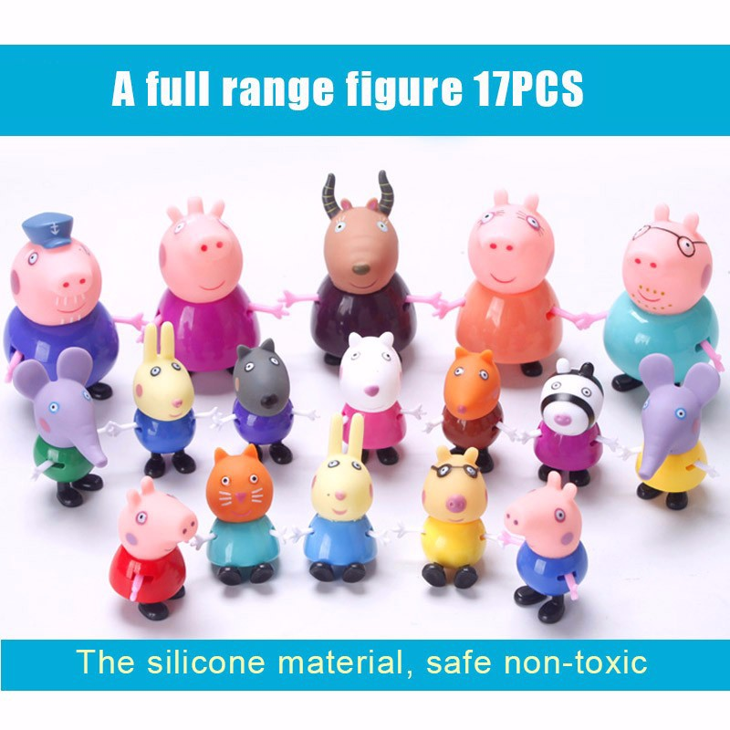 New full range Toys PVC Action Figure peppa pig Toy Juguetes Baby Kid Birthday Gift brinque aiboully toys series of amusement park toys pvc action figures family membe toy baby kid birthday gift