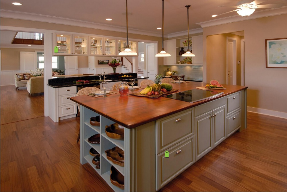 2017 new design solid wood kitchen cabinets customized made cheap ...