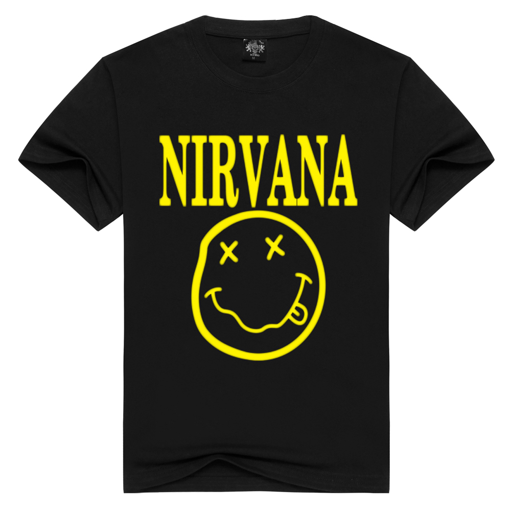 Nirvana   T  -  shirts   Men/Women Summer Cotton Tops Tees Print   T     shirt   Men loose o-neck short sleeve Fashion Tshirts Plus Size S-3XL