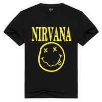 Nirvana T-shirts Männer/Frauen Sommer Baumwolle Tops Tees Drucken T shirt Männer lose oansatz kurzarm Mode T-shirts Plus größe S-3XL