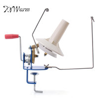 KiWarm Heavy Duty 10 Ounce Needlecraft Metal Yarn Fiber Wool Ball Winder Hand Operated For Sewing Accessories Tools