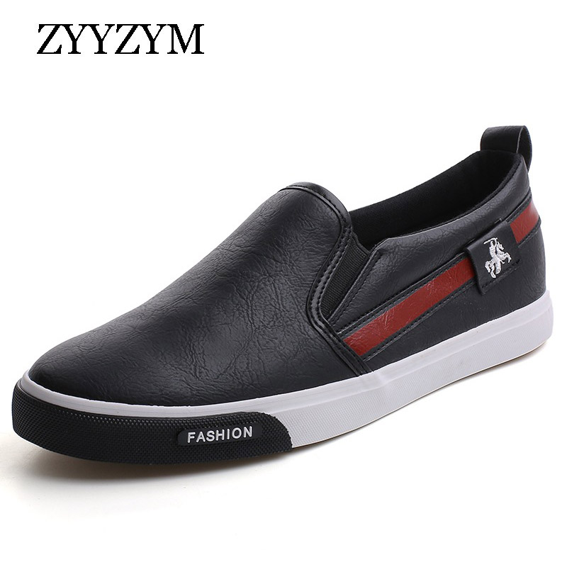 ZYYZYM Men Shoes Pu Leather Fashion Light Men Causal Shoes Outdoor Loafers Shoes Sneakers New Arrival