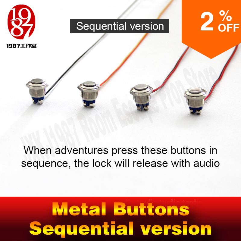 Chamber room prop real life escape room magic metal button in order to unlcok with audio jxkj1987 adventure room prop game-in Alarm System Kits from Security & Protection
