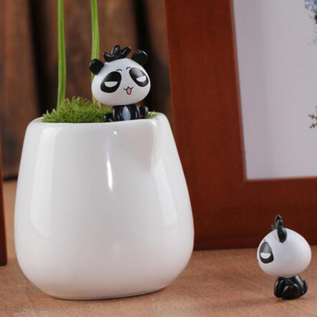 Micro Decoration Ornament Mini Cute Cartoon Sitting Panda Model DIY Micro  Garden Plant Accessories Material Random