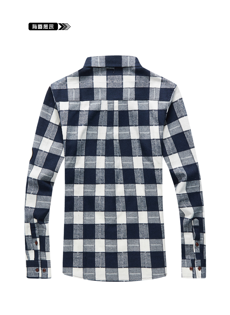 XMY3DWX products sell like hot cakes men long sleeve shirt men grid thin body hair fashion Grinding MAO casual shirt/size S-4XL 52