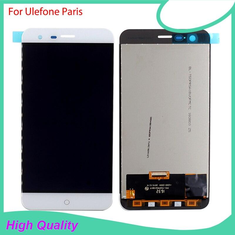Para Ulefone París Pantalla LCD de Pantalla Táctil Asamblea de Cristal Del Panel