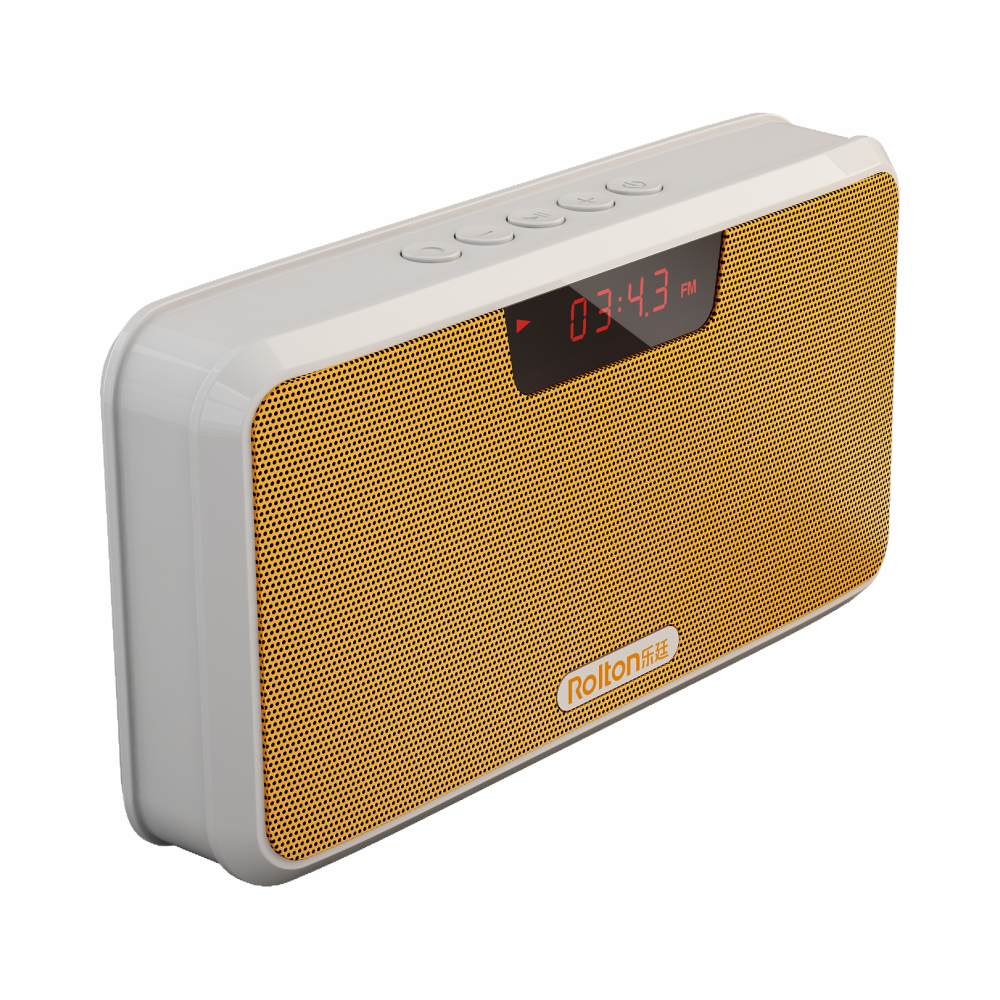 Rolton E300 Multi-functional Portable Wireless Bluetooth Speaker with Power Bank, FM Radio (Yellow)