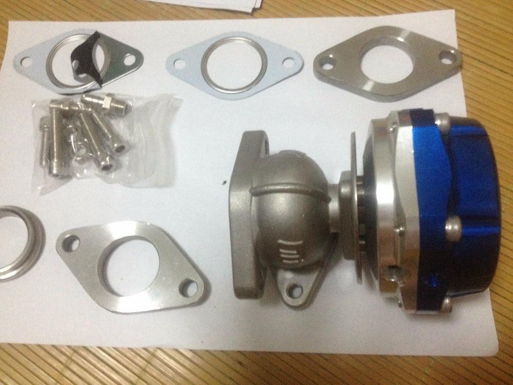 NEW BLUE 44mm V-Band External v44 Turbo Wastegate Performance 14PSI MVR44