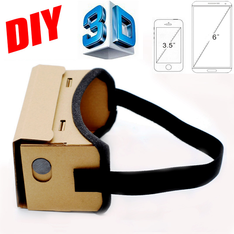 Google <font><b>Cardboard</b></font> <font><b>VR</b></font> Box <font><b>DIY</b></font> <font><b>VR</b></font> <font><b>Virtual</b></font> <font><b>Reality</b></font> 3D <font><b>Glasses</b></font> Magnet <font><b>VR</b></font> Box Controller 3D <font><b>VR</b></font> <font><b>Glasses</b></font> for iPhone Android Samsung
