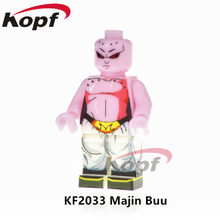 Single Sale Dragon Ball Z Figures Super Heroes Majin Buu Vegeta SSJ3 Jiren Launch Building Blocks Best Children Gift Toys KF2033(China)
