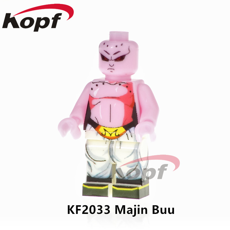 Single Sale Dragon Ball Z Figures Super Heroes Majin Buu Vegeta SSJ3 Jiren Launch Building Blocks Best Children Gift Toys KF2033