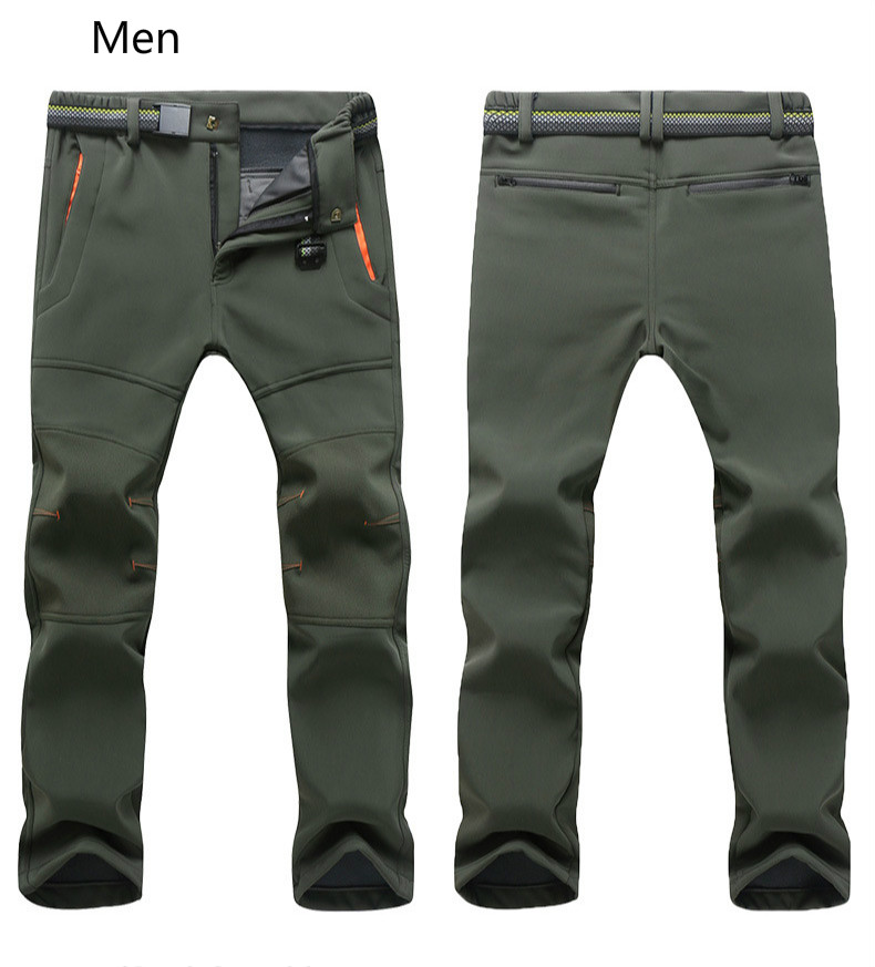 Winter Hiking Pant  Men's And Women's Soft-shell Stormtrousers Warm Windproof Assault Trekking Camping Mountain Trouser