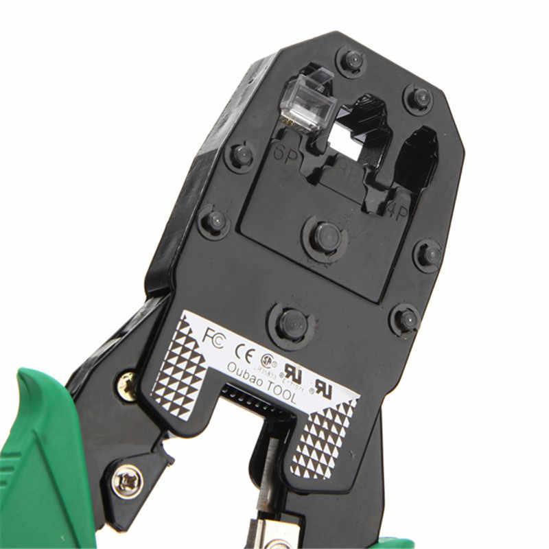 ポータブルlanネットワークツールキットutpケーブルテスターとプライヤー圧着クリンパープラグワイヤーストリッパーヘッド付きrj45 cat5 cat5eコネクタ