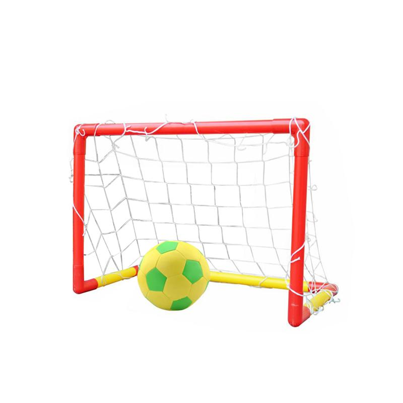 Soccer Goals Set with Inflatable Soccer Ball for Kids Children Backyard Soccer Gate Toy Football Training Set