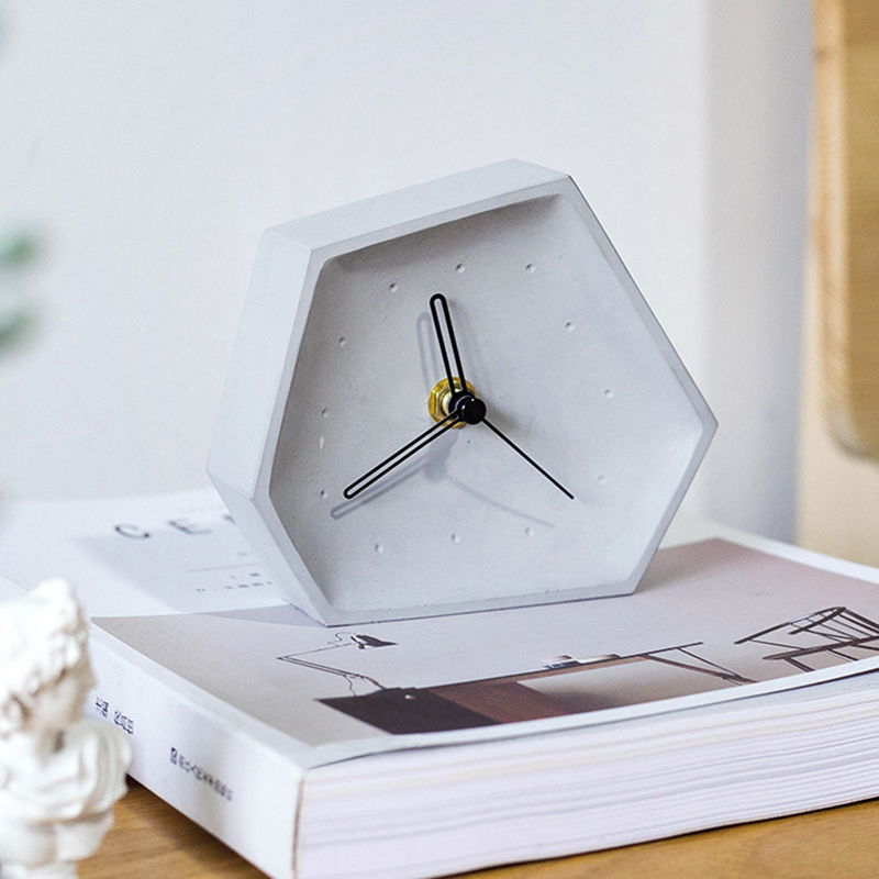Creative concrete clock silicone mold Silicone Desktop clocks Mould silicone concrete mold for home furnishing