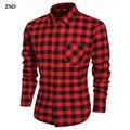 Camisa xadrez masculina 2016 primavera e verão nova moda de vestido dos homens camisa M Shishemisi fino de mangas compridas casuais camisa homens