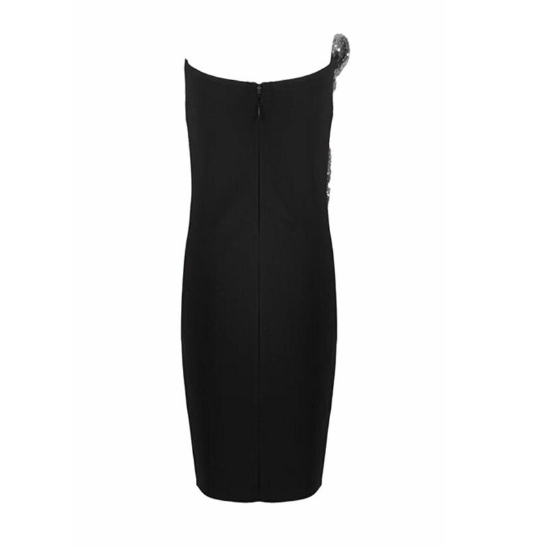 Outre Festa Moulante Bandage Nu Partie Sexy D'été Élégant Robe De Paillettes Robes Nouvelle Noir Mode L'épaule 2018 Dos TgwqSU