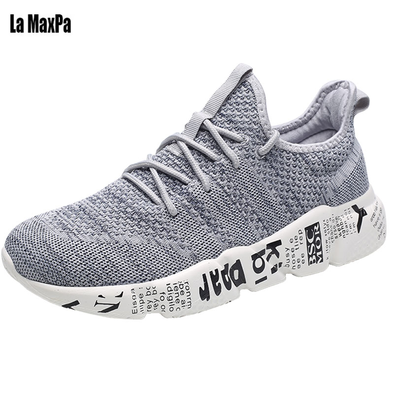 Men Running Sports Shoes For Men Mesh Breathable Adults Jogging Athletic Sneakers Outdoor Walking Soft Comfortable Mens Shose