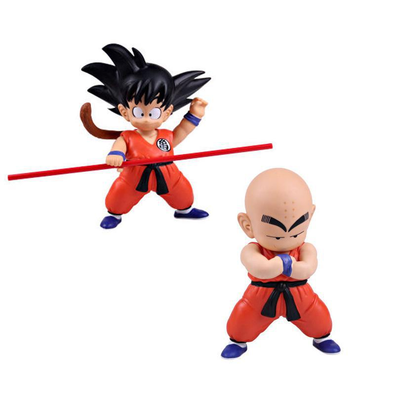 Anime Dragon Ball Z Figures Goku Kuririn PVC Action Figure Toys Dragonball Collection Model Free Shipping 1 pcs anime dragon ball z toy figure super saiyan goku pvc action figures big size dragonball model toys for boys kids wholesale