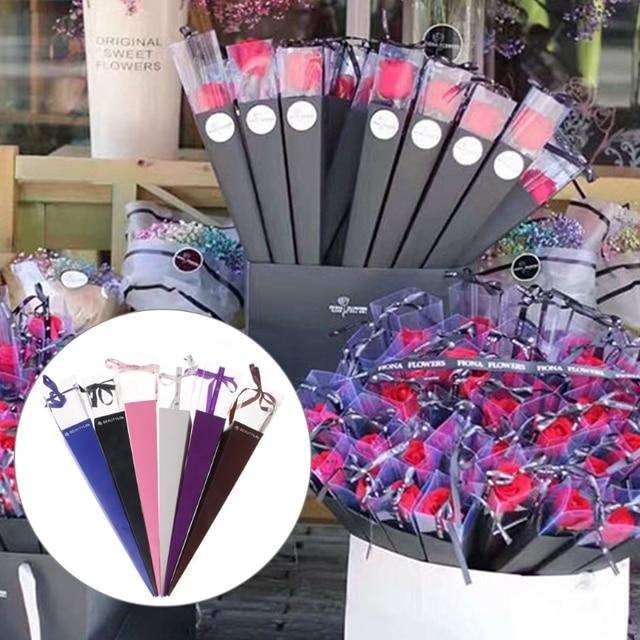 Beautiful 1pc Elegant Single Flower Rose Cone Gift Box Valentine S