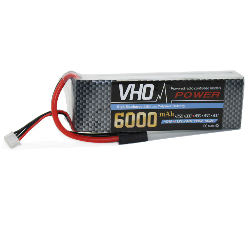 VHO 3S RC lipo battery 11.1v 6000mAh 40C Max 80C For RC Helicopter Truck Car Airplane Quadcopter Free shipping fire bull 4s lipo battery 4s 14 8v 3300mah 30c max 40c t xt60 plug lipo rc battery for rc helicopter car boat 4s free shipping